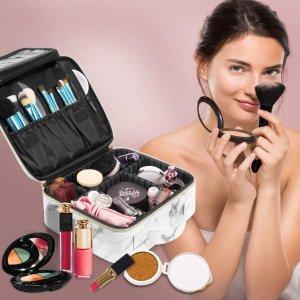 $30.59(原价$35.99)多功能化妆包 优质皮革 超大容量 防水好清洗 多色可选