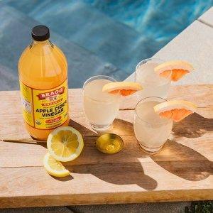 低至8.5折 $3.22收苹果醋饮料Bragg 有机苹果醋 纯天然无添加低卡路里健康饮料、调料