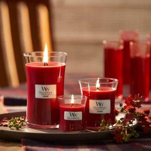 经典醋栗香型€26.99WoodWick 香薰蜡烛 噼里啪啦的壁炉感 冬日幸福感up!