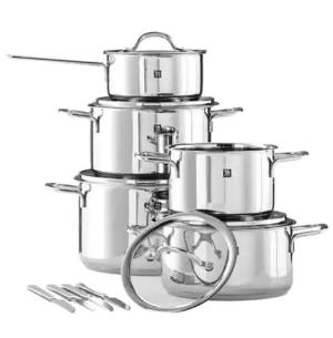 低至$169.99 (原价$599.99)Zwilling Neo 不锈钢锅具10件套 送刀具四件套