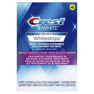 5.8折 $31.99(原价$54.99)Crest 佳洁士 3D美白牙贴特卖 24片12对装 牙齿美白体验
