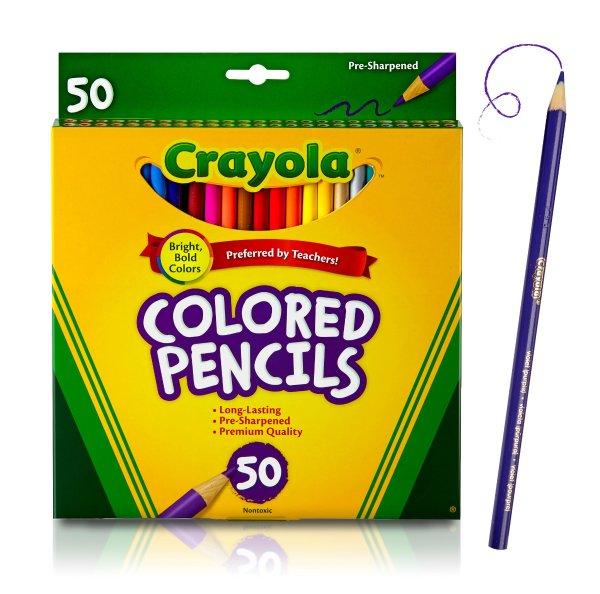 50色彩色铅笔