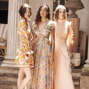 低至5折 $300收超美连衣裙Zimmermann官网 精选高颜值衣裙热卖