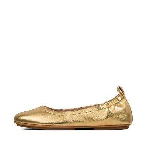 FitFlop金色芭蕾鞋