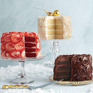 7.5折 圣诞派对佳选红丝绒、提拉米苏等精美多层蛋糕限时优惠