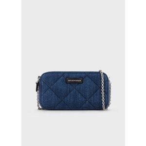 Emporio ArmaniMatelasse Denim Smartphone Mini Bag for Women | Emporio Armani