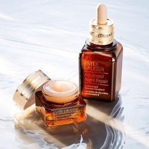 8.5折补货:Estee Lauder 彩妆护肤品热卖 收双棕瓶套装