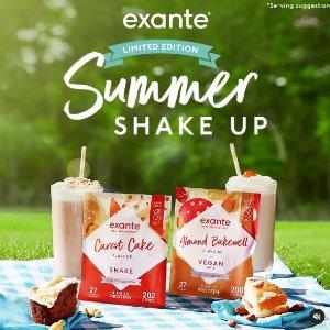 奶昔5折起  单份仅85pExante 代餐奶昔抄底价 低糖+减脂超多果味 夏日瘦身法宝