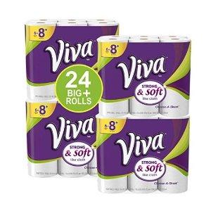 $23Viva  Paper Towels, White, Big Plus Roll, 24 Rolls