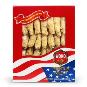 WOHO #132.4 American Ginseng Half Short Medium 4oz Box 参短枝中号4oz盒装