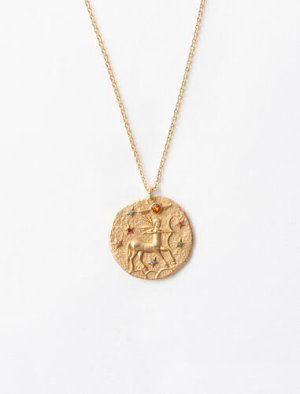 119 SAGITTAIRE Sagittarius zodiac sign necklace - Spring Pre-Collection - Maje.com
