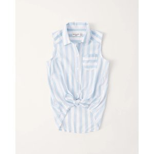 Abercrombie & Fitchgirls button-up shirt | girls Up to 40% Off Select Styles | Abercrombie.com