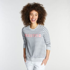 NauticaADRIFT CREWNECK PULLOVER IN STRIPE