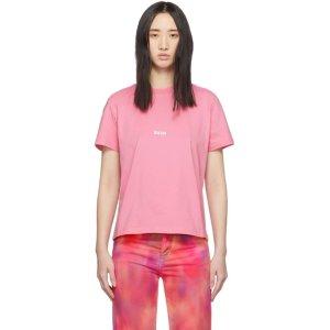 MSGM粉色小logoT恤