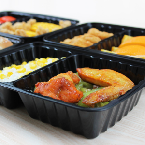 Today Only: Enther Meal Prep Containers [20 Pack] 3 Compartment with Lids, Food Storage Bento Box