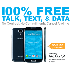 100% Free Mobile Phone Service + FREE 500MB Bonus w/ Samsung