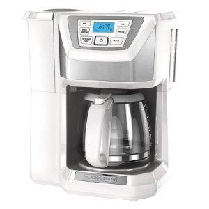 $30.52(原价$76.02)BLACK+DECKER 全自动智能编程咖啡机12杯  白色