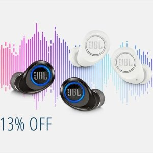 $69.95($149.95)JBL Free X 无线入耳式耳机 黑白双色可选 内置麦克风