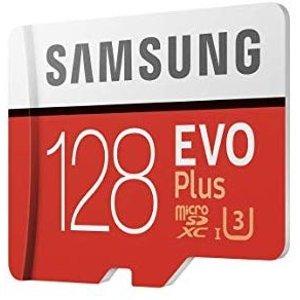 $25Samsung EVO Plus 128GB microSDXC UHS-I U3 存储卡