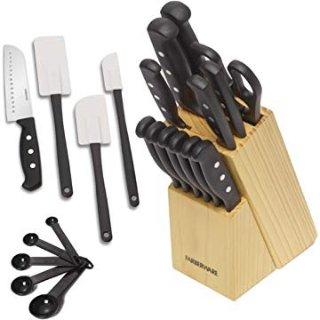 $12.38 包邮Farberware  不锈钢刀具厨具套装 22件