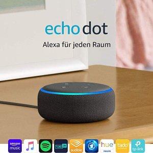 即将截止:Echo Dot (3. Gen.) 智能音响 黑五大促4.7折特价