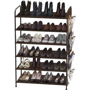 Simple Houseware 6层鞋架 带侧边收纳袋