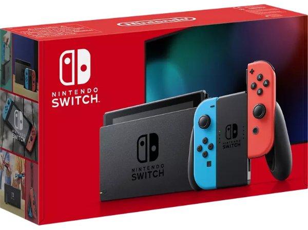 Nintendo Switch neue Edition in Neon-Rot/Neon-Blau   MediaMarkt
