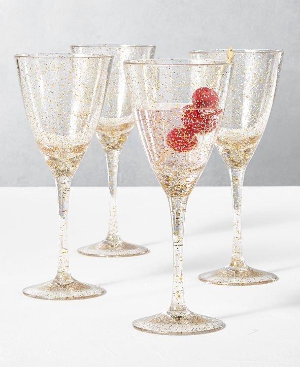 节日酒杯4件