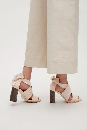 TIE-BACK SUEDE SANDALS - Biscuit - Sandals - COS
