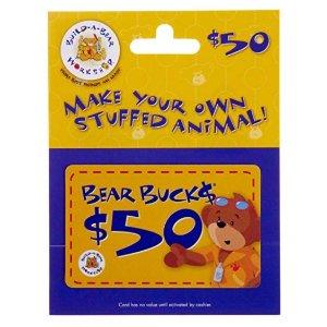 $40(原价$50)+包邮闪购:Build-A-Bear 玩具店礼卡特卖