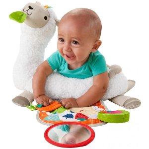 $14.99 让 Tummy Time更有趣费雪 Grow-with-Me 羊驼造型婴儿趴趴垫 带3个小玩具