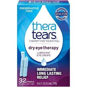 TheraTears Dry Lubricant Eye Drops Therapy Restores Eyes Natural Balance 32 Pcs | eBay