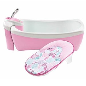 Summer Infant Lil Luxuries Whirlpool Bubbling Spa & Shower Bath Tub, Pink @ Amazon.com