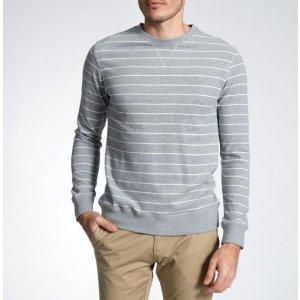 LOGAN HILL男士长袖条纹针织衫