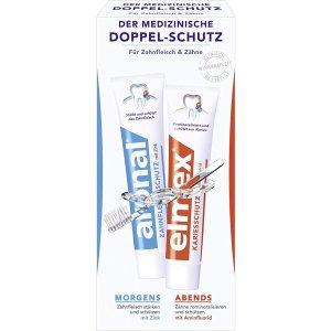 早保护牙龈 晚预防龋齿早晚牙膏2支