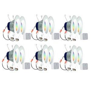 $114(原价$700)Sylvania Lightify 智能家居嵌入式LED灯套装 6套