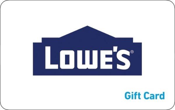 Lowe's 电子礼卡促销满$300享9折