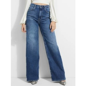 Super-High Wide Leg Jeans at Guess