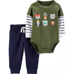 Carter's2-Piece Animal Bodysuit Pant Set