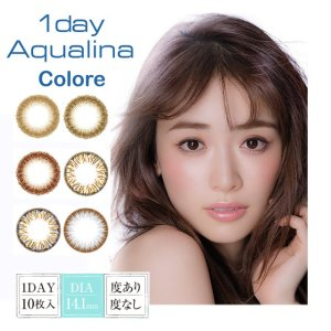 Ever Color 1day1day Aqualina Colore [1 Box 10 pcs] / Daily Disposal 1Day Disposable Colored Contact Lens DIA14.1mm