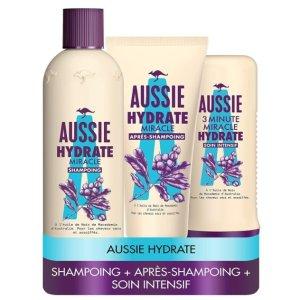 史低价 仅€9.02收Prime Day狂欢价:Aussie澳洲袋鼠超值套装 洗发+护发素+3分钟奇迹发膜