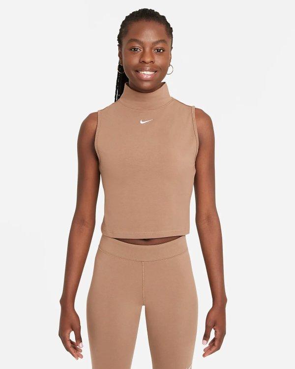 Sportswear Collection Essentials 奶茶色无袖上衣