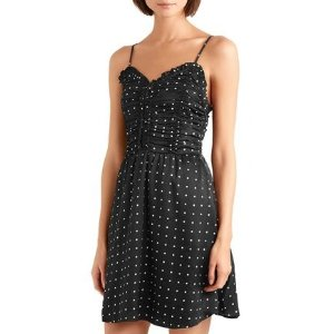 MajePolka-dot 吊带连衣裙