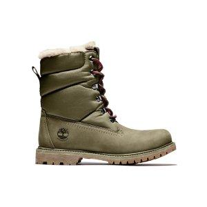 Timberland 女款军绿防水靴