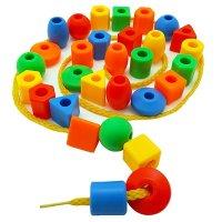 Skoolzy 串珠玩具,30颗串珠+2根穿绳+收纳袋