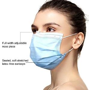 $24.99(原价$29.99) ASTM认证THINKA 医用一次性三层口罩50个 BFE和PFE过滤效率95%