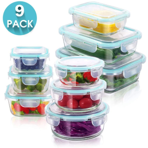 9件套仅€21MASTERTOP 玻璃保鲜盒 保鲜隔味又环保 洗碗机微波炉试用
