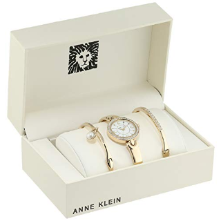 Extended: Anne Klein Women's AK/3288GBST Swarovski Crystal Watch and Bangle Set