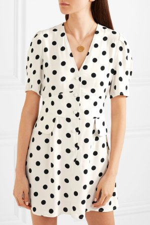 RIXO London | Laura polka-dot crepe mini dress | NET-A-PORTER.COM