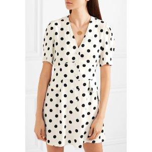 RIXO London | Laura polka-dot crepe mini dress | NET-A-PORTER.COM